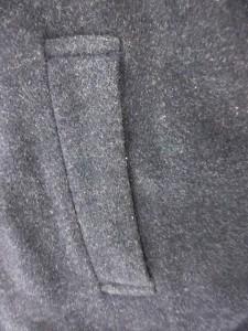 モンテヴィゾ イタリー MONTEVISO ITALY ステンカラーコート ロング ウール カシミヤ混 紺 L /SN メンズ ベクトル【中古】