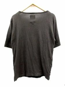 シャリーフ SHAREEF Tシャツ カットソー 半袖 ボーダー 2 チャコールグレー /CY21 メンズ
