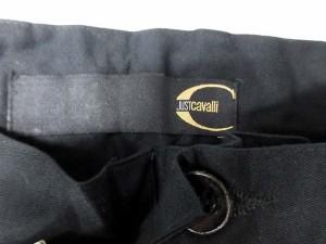 未使用品 ジャストカヴァリ JUST cavalli パンツ ストレート ロング ビーズ 44 黒 /YO27 レディース