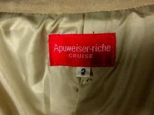 アプワイザーリッシェ Apuweiser-riche CRUISE コート スタンドカラー ロング アンゴラ 2 ベージュ /CY13 レディース ベクトル【中古】