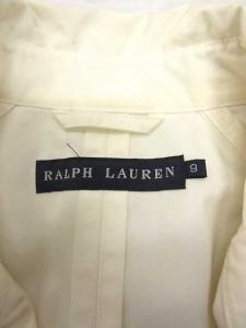 ラルフローレン RALPH LAUREN トレンチ スプリングコート ロング 9 白 S /MK19 レディース
