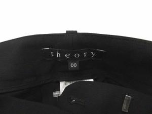 セオリー theory パンツ スラックス ストレッチ ロング 黒 00 /AO24 レディース