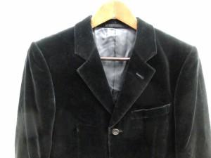 マーガレットハウエル MARGARET HOWELL ジャケット テーラード ベロア S 黒 /CY40 メンズ