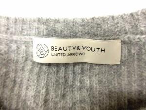 B&Y ユナイテッドアローズ BEAUTY&YOUTH ビューティー&ユース ニット セーター 長袖 アンゴラ混 グレー /CY32 メンズ