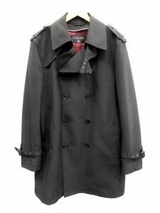 ジョンピアース john pearse コート トレンチ ロング ライナー付き L 黒 /CY7 メンズ