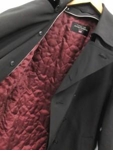 ジョンピアース john pearse コート トレンチ ロング ライナー付き L 黒 /CY7 メンズ ベクトル【中古】