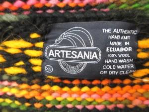 アルテサニア artesania ジャケット ニット ジップアップ XS マルチカラー /CY17 メンズ ベクトル【中古】