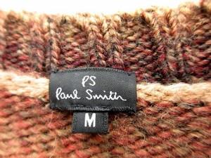 ポールスミス PAUL SMITH セーター ニット ボーダー クルーネック 長袖 M 茶色 /SR18 メンズ ベクトル【中古】