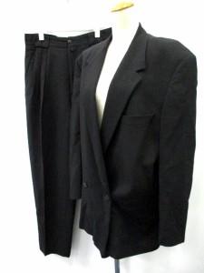 ヴェルサス ヴェルサーチ VERSUS VERSACE スーツ セットアップ 上下 ジャケット パンツ 34/48 黒 メンズ ベクトル【中古】