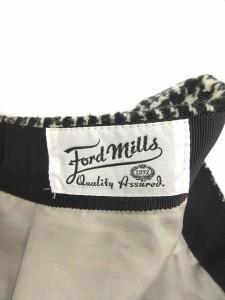 フォードミルズ FORDMILLS パンツ キュロット ショート 36 総柄 白 黒 /KN35 レディース ベクトル【中古】