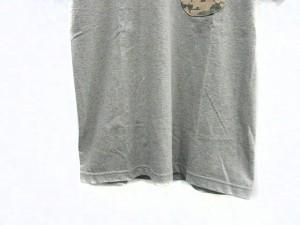 ナリフリ narifuri Tシャツ カットソー 半袖 クルーネック 切替 迷彩 カモフラ  グレー /VTH メンズ ベクトル【中古】