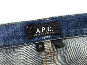 アーペーセー A.P.C. パンツ デニム ジーンズ ボタンフライ 30 青 /CY29 メンズ ベクトル【中古】