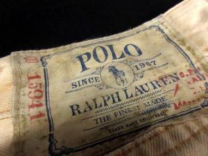 ポロ ラルフローレン POLO RALPH LAUREN パンツ ワーク デニム ロング ボタンフライ 34 ベージュ /SR25 メンズ ベクトル【中古】