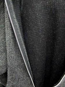 カバンドズッカ CABANE de zucca ニット パーカー ジップアップ フェイクファー M グレー /MT2 メンズ ベクトル【中古】