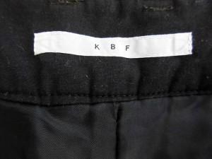 ケイビーエフ KBF ショートパンツ タック レオパード 厚手 36 緑系 【中古】 ベクトル【中古】