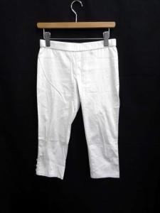 アンタイトル UNTITLED パンツ 七分丈 ストレッチ 裾ボタン 2 白/MK664 【中古】 ベクトル【中古】