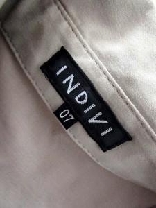 インディヴィ INDIVI ワンピース シャツ 無地 ひざ丈 七分袖 7 グレー /MY11 【中古】