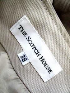 ザ スコッチ ハウス The Scotch House スカート 無地 ひざ丈 38 ベージュ /MY15 【中古】 ベクトル【中古】