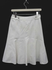 ミッシェルクラン MICHEL KLEIN スカート フレア 膝丈 38 白 ホワイト /DC383 【中古】 ベクトル【中古】