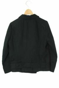 ユナイテッドバンブー UNITED BAMBOO テーラードジャケット ダブル コットン 4 黒  レディース