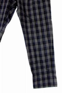 ショコラフィネローブ chocol raffine robe パンツ テーパード チェック L グレー レディース ベクトル【中古】