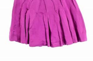 ドゥーズィエム クラス ラリュー DEUXIEME CLASSE L'ALLURE スカート ミニ プリーツ リネン混 36 紫 レディース ベクトル【中古】