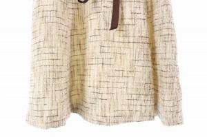 レストローズ L'EST ROSE ワンピース ミニ ツイード リボン付き 半袖 2 ベージュ レディース ベクトル【中古】