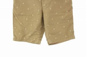ツーディライヴ 02DERIV. パンツ ハーフ ショート 総柄 刺繍 1 ベージュ メンズ ベクトル【中古】