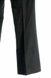 エムプルミエ M-Premier パンツ スラックス ストライプ 36 黒 レディース ベクトル【中古】