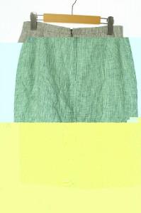 マックスマーラ MAX MARA スカート ロング タイト 総柄 42 グレー レディース ベクトル【中古】