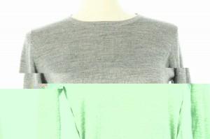 インディヴィ INDIVI セーター ニット 長袖 38 グレー レディース ベクトル【中古】