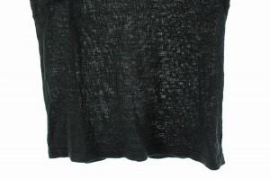 組曲 KUMIKYOKU セーター ニット リネン混 レース 半袖 2 黒 レディース ベクトル【中古】