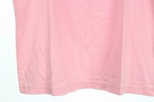 未使用品 アニエスベー agnes b. カットソー ヘンリーネック 切替 半袖 3 ピンク レディース