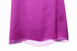 フレームワーク Framework ワンピース 膝丈 シフォン フリル 半袖 36 紫 レディース ベクトル【中古】