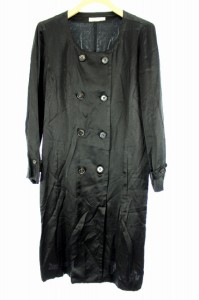 デプレ DES PRES トゥモローランド コート ノーカラー ロング ダブル 1 黒 レディース ベクトル【中古】