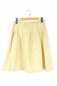 組曲 KUMIKYOKU スカート フレア 膝丈 2 ベージュ レディース