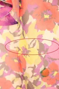 チェスティ Chesty ワンピース ミニ ノースリーブ 花柄 0 紫 レディース ベクトル【中古】