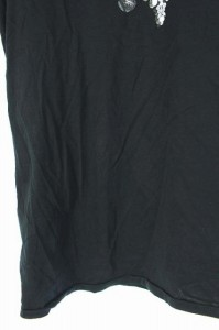 ポールスミス PAUL SMITH Tシャツ カットソー プリント 半袖 S 黒 レディース ベクトル【中古】