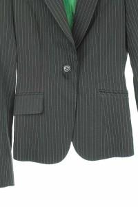 ブラック バイ マウジー BLACK by moussy ジャケット テーラード ストライプ 総裏地 1 黒 レディース ベクトル【中古】