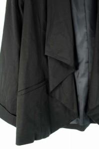 スーナウーナ Sunauna ジャケット ドレープ 総裏地 七分袖 38 黒 レディース