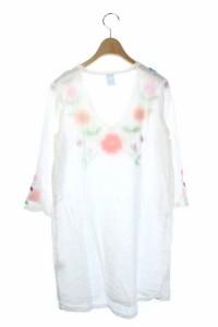 ガイジンメイド GAIJIN MADE チュニック 七分袖 刺繍 白 レディース