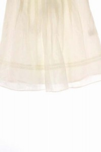 ジャスグリッティー JUSGLITTY スカート 膝丈 フレア 1 白 /DF レディース ベクトル【中古】