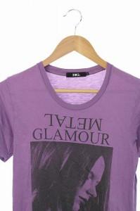 ヒステリックグラマー HYSTERIC GLAMOUR Tシャツ カットソー プリント ロゴ 半袖 S 紫 /HA レディース ベクトル【中古】