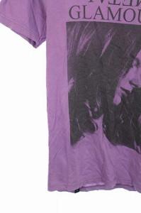 ヒステリックグラマー HYSTERIC GLAMOUR Tシャツ カットソー プリント ロゴ 半袖 S 紫 /HA レディース