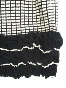 未使用品 マニアニエンナ MANIANIENNA ニットスカート ミニ  フリル F 黒 /DT1 ● ■RI レディース ベクトル【中古】