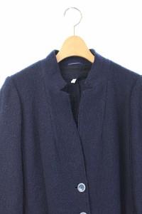 イブルース i Blues ジャケット テーラード ツイード 背抜き 38 紺 /HA レディース ベクトル【中古】