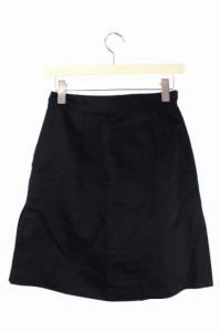 ダナキャランニューヨーク DKNY スカート 台形 ひざ丈 2 黒 /HK レディース