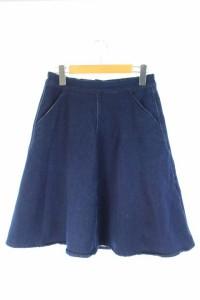 ルノンキュール Lugnoncure スカート ひざ丈 フレア M 紺 /YS  レディース ベクトル【中古】