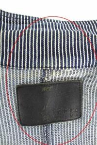 アツロウタヤマ ATSURO TAYAMA ジャケット テーラード ストライプ デニム USA4 青 /HA レディース ベクトル【中古】