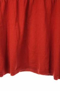 インディヴィ INDIVI ニット カットソー 長袖 Vネック 42 赤 レディース ベクトル【中古】